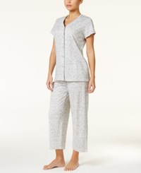 Charter Club Loop Trimmed Top And Cropped Pants Pajama Set Only At Macy's Vineyard