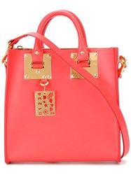 Sophie Hulme 'Le Square' Tote Red