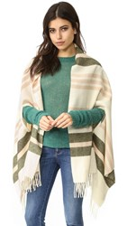 Madewell San Juan Stripe Cape Scarf Antique Cream