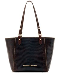 Dooney And Bourke Lizard Embossed Janie Small Tote Created For Macy's Espresso