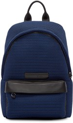 Mcq By Alexander Mcqueen Navy Mesh Backpack