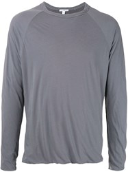 James Perse Twist Detail T Shirt Grey