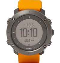 Suunto Traverse Amber Stainless Steel And Silicone Gps Watch Orange