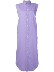 Ralph Lauren Sleeveless Shirt Dress Purple