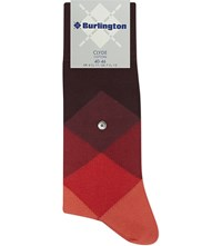 Burlington Clyde Diamond Socks Claret