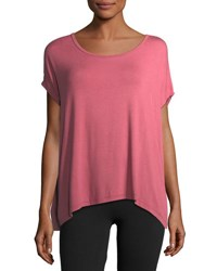 Beyond Yoga Back Out Strappy Short Sleeve Tee Pink