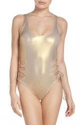 The Bikini Lab Women's Island In Fun Mio One Piece Swimsuit Gold