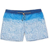 Thorsun Clay Slim Fit Mid Length Printed Swim Shorts Blue