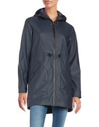 Hunter Original Rubberized Smock Jacket Navy