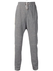 Balmain Drop Crotch Track Trousers Grey