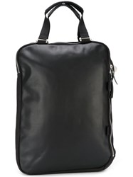 Qwstion Top Handle Backpack Black