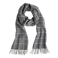 J.Crew Collection Cashmere Scarf In Black Plaid
