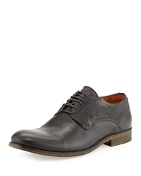 Modern Vintage Anson Leather And Suede Oxford Black Ash