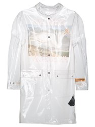 Heron Preston Transparent Rain Coat White