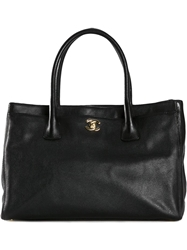 Chanel Vintage 'Executive Cerf' Tote Bag Black