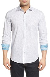 Bugatchi Men's Shaped Fit Anchor Print Sport Shirt