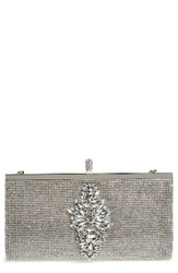 Badgley Mischka Alisha Clutch Metallic Silver