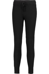 Derek Lam 10 Crosby By Ribbed Cashmere Track Pants Black