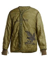 Mhi Upcycled Quilted Jacket Green