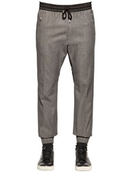 Diesel Herringbone Effect Cotton Suiting Pants
