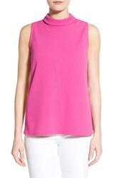 Women's Bobeau Mock Neck Sleeveless Top Clover