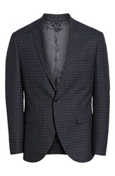 Topman Kingley Slim Fit Tuxedo Jacket Black