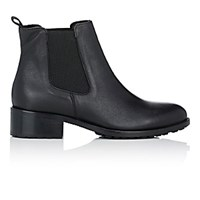 Barneys New York Shearling Lined Chelsea Boots Black