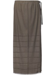 Issey Miyake Pleats Please By 'A Poc' Skirt Brown