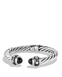 David Yurman Renaissance Bracelet With Black Onyx And Diamonds Silver Black