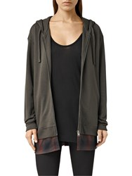 Allsaints Halo Hoodie Washed Black