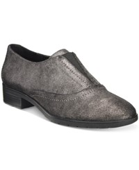 Easy Spirit Neota Oxford Flats Women's Shoes Pewter