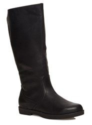 Evans Extra Wide Elastic Back Panel Boots Black