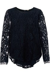 Adam By Adam Lippes Lace Top Blue