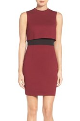 French Connection Lula Colorblock Popover Dress Red