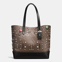Coach Gotham Tote In Glovetanned Leather With Studs Military