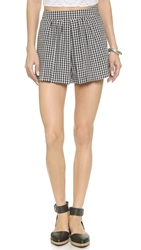 Wayf Gingham Shorts Black White