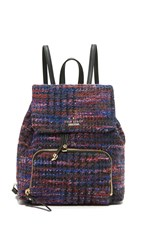 Kate Spade Jessa Tweed Backpack Burgundy Multi