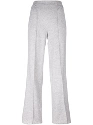 Agnona Flared Track Pants Grey