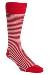 Boss Men's Marc Stripe Socks Bright Red