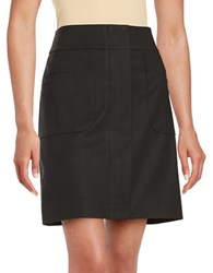 Lord And Taylor Doubleweave A Line Skirt Black