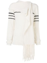 J.W.Anderson Jw Anderson Scarf Knitted Jumper White