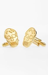 Men's Alexander Mcqueen Brass Skull Cuff Links