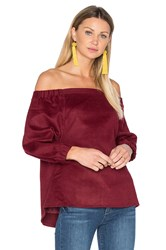 Blaque Label Off Shoulder Top Burgundy