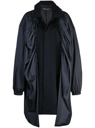 Y Project Covered Midi Coat Black