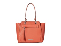 Nine West Seamingly Attached Large Tote Indian Coral Tote Handbags Red
