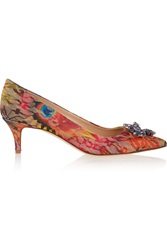 J.Crew Collection Crystal Embellished Embroidered Mesh Pumps