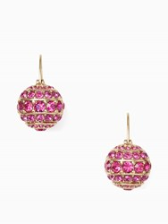 Kate Spade Bright Spark Stone Bauble Drop Earrings Fuschia