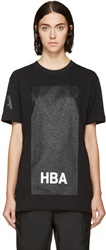 Hood By Air Black Glitter Box T Shirt