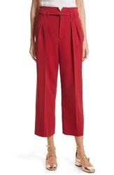 Red Valentino Women's Stretch Crop Pants Lacca