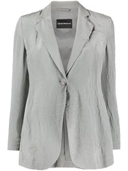 Emporio Armani Creased Single Breasted Blazer 60